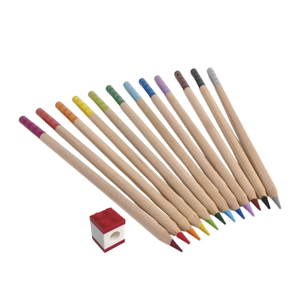 LEGO® Coloured Pencils With Toppers 12 Piece
