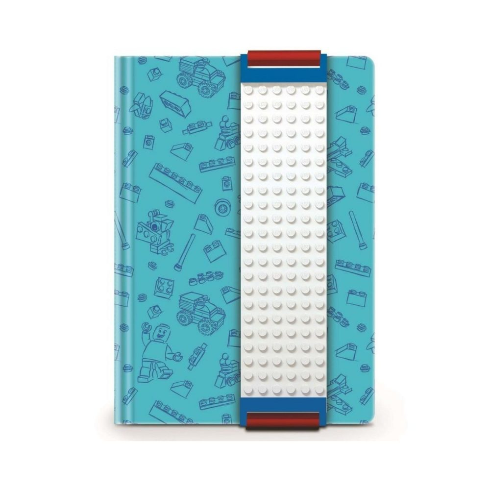 LEGO® Journal With Building Band - Blue